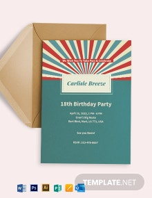 Retro Birthday Invitation Template