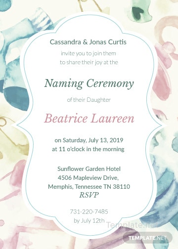 Naming ceremony invitation template in adobe illustrator photoshop naming ceremony invitation stopboris Images