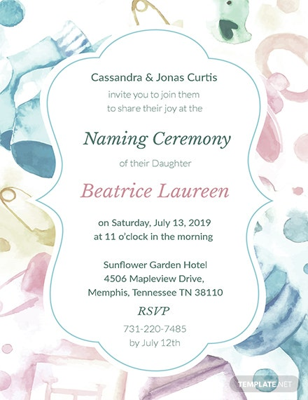 Free naming ceremony invitation template download 344 invitations free naming ceremony invitation template download 344 invitations in illustrator psd word publisher apple pages template maxwellsz