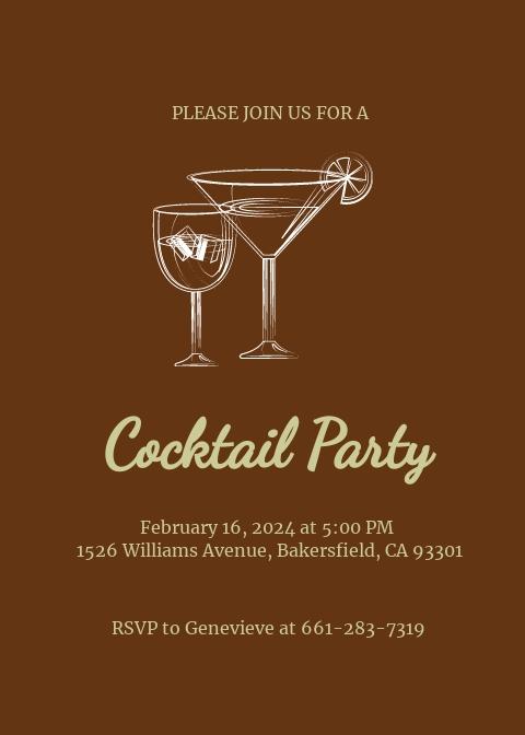 Retro Cocktail Invitation Template