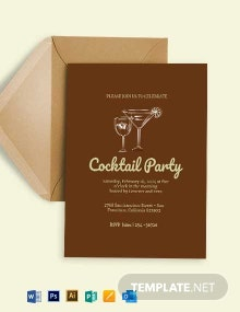 Retro Cocktail Invitation Template