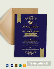 Royal Baby Shower Invitation Template