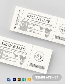 Save The Date Boarding Pass Invitation Template