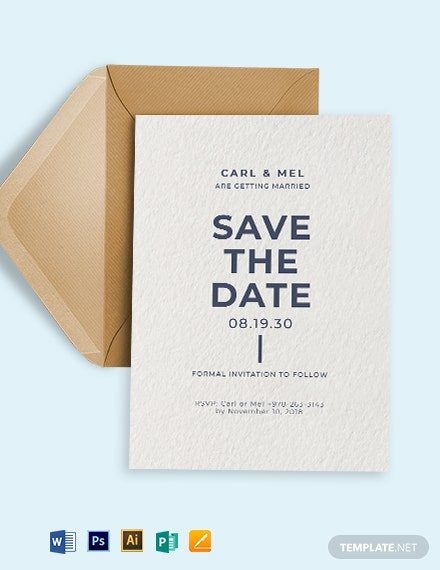 Save The Date RSVP Invitation Template