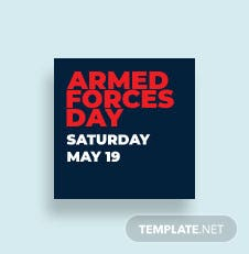 Armed Forces Day Tumblr Profile Photo Template