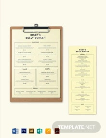 Burger Menu Template