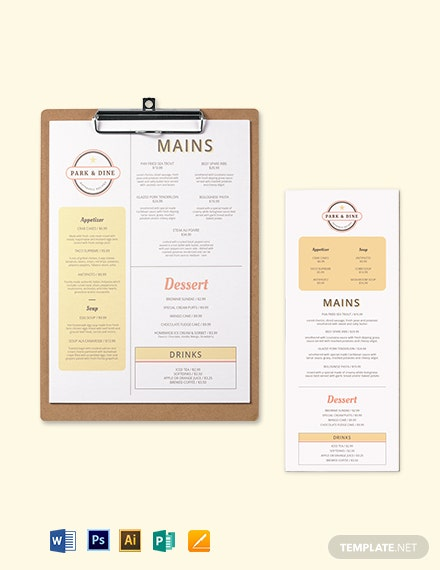 Creative Restaurant Menu Template