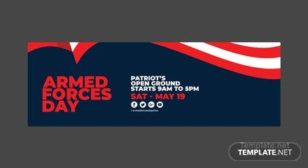 Armed Forces Day Twitter Header Cover Template