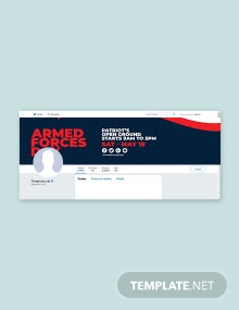 Free Armed Forces Day Twitter Header Cover Template