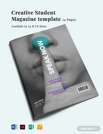 Creative Student Magazine Template
