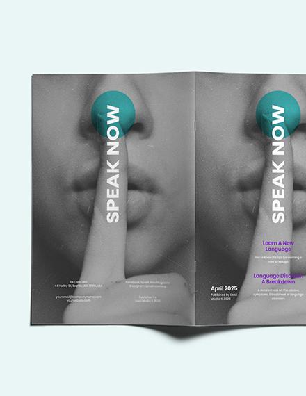 Customise Creative Student Magazine