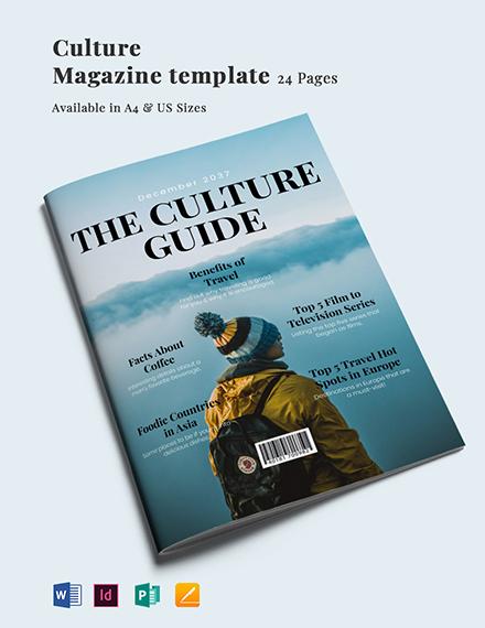 Culture Magazine Template