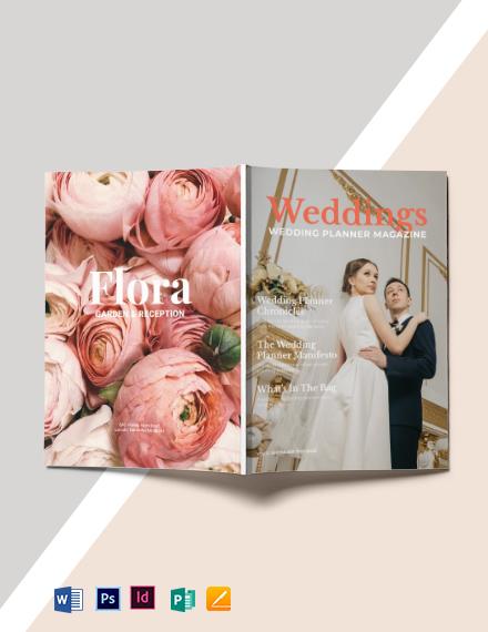 Fall Wedding Planner Magazine Template