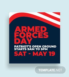 Armed Forces Day Twitter Profile Photo Template