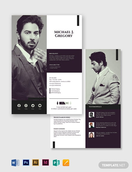 Author Media kit Template