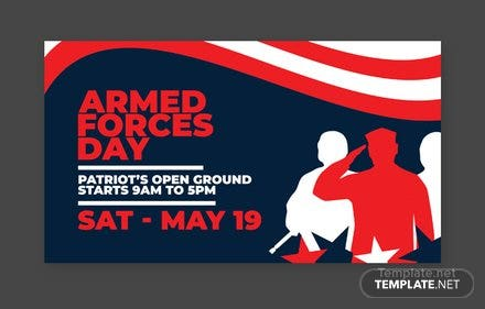 Armed Forces Day YouTube Channel Cover Template