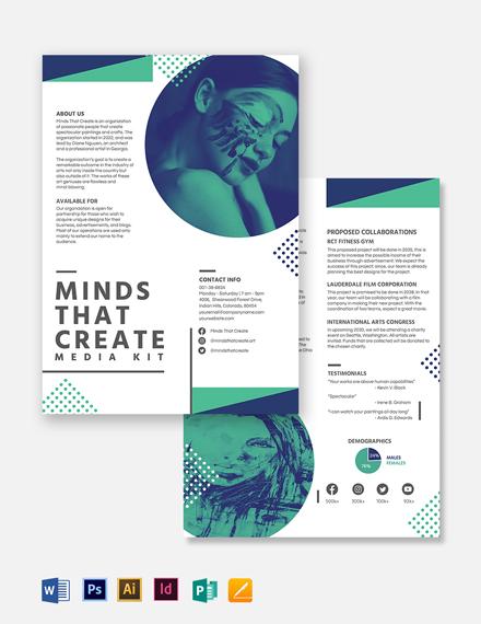 Creative Media Kit Template