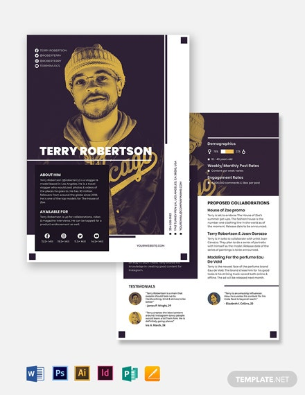 Instagram Media Kit Template
