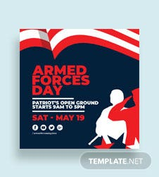 Armed Forces Day YouTube Profile Photo Template