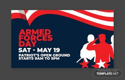 Armed Forces Day YouTube Video Thumbnail Template