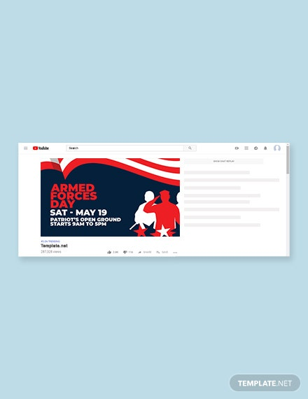 Free Armed Forces Day YouTube Video Thumbnail Template