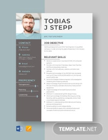 EMC Test Engineer Resume Template
