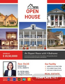 Free Broker Open House Flyer Template