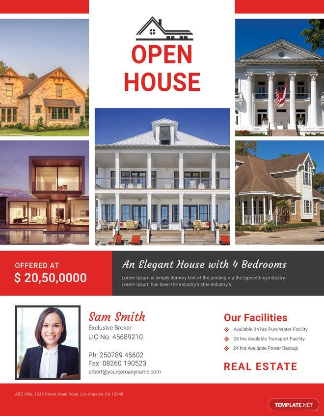 Broker Open House Flyer Template Free Templates