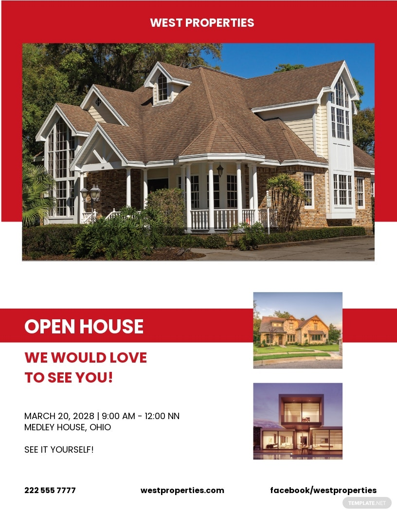 Free Realtor Open House Flyer Template