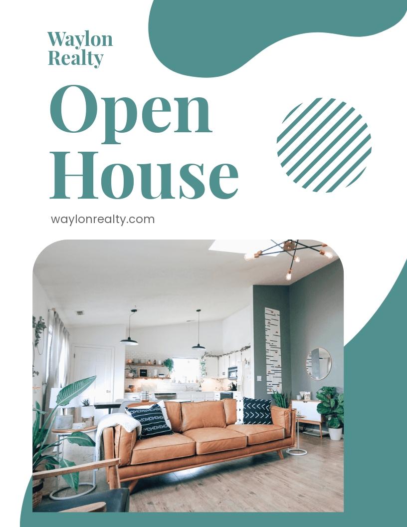 Realtor Open House Flyer Template