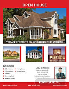 Realtor Open House Flyer Template