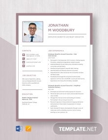 Employee Benefits Account Executive Resume Template