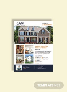 Business Open House Flyer Template