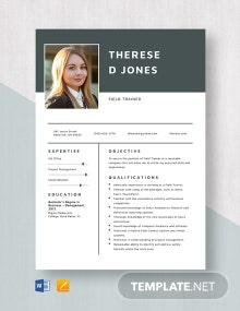 Field Trainer Resume Template