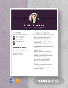 Field Visual Merchandiser Resume Template