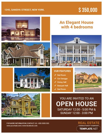 free open house event flyer template44