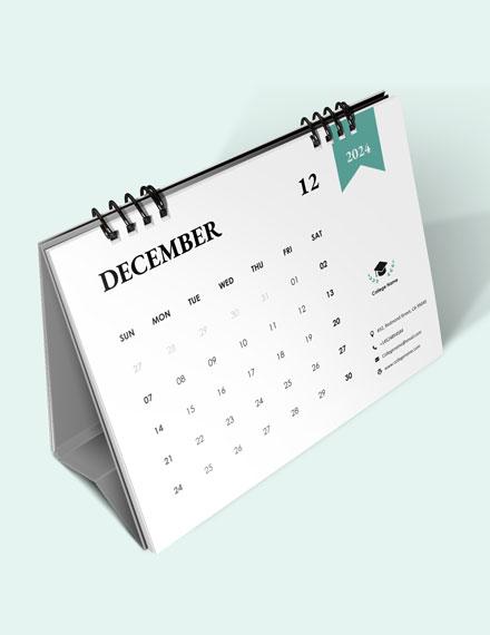 Academic Desk Calendar Download