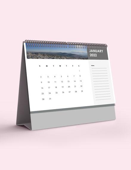 Annual Desk Calendar Template