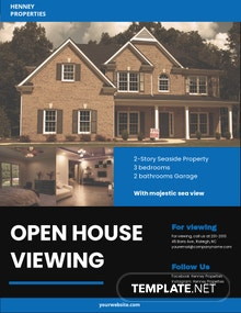 Free Open House Viewing Event Flyer Template