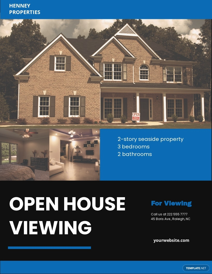 Open House Viewing Event Flyer Template