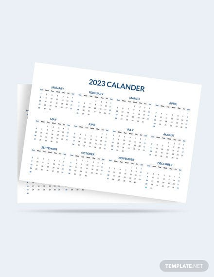 Annual Project Desk Calendar Template