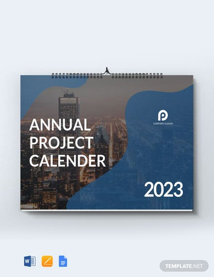 Annual Project Desk Calendar