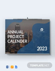 Free Annual Project Desk Calendar Template