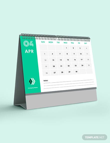 Annual Sales Desk Calendar Template