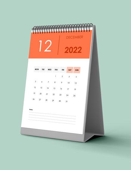 Annual Training Desk Calendar Download
