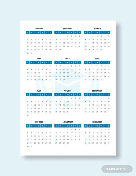 Blank Academic Desk Calendar Download