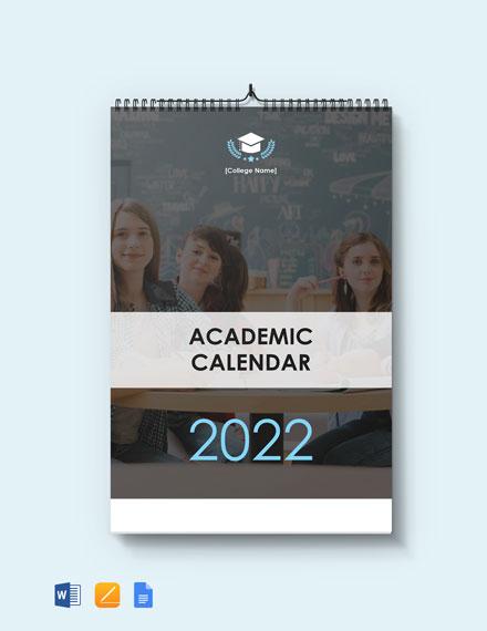 Free Blank Academic Desk Calendar Template