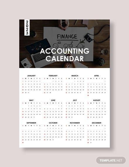 Blank Accounting Desk Calendar Download
