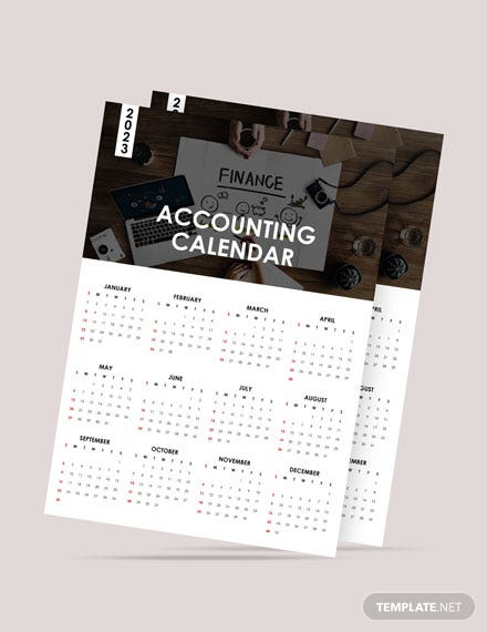 Blank Accounting Desk Calendar Template