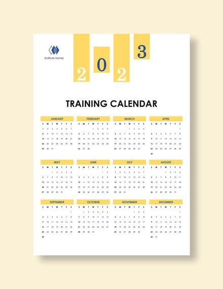 Blank Training Desk Calendar Instructions